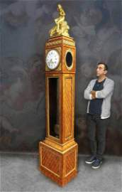 19th C. Ferdinand Berthoud Gilt Bronze Long-Case Clock