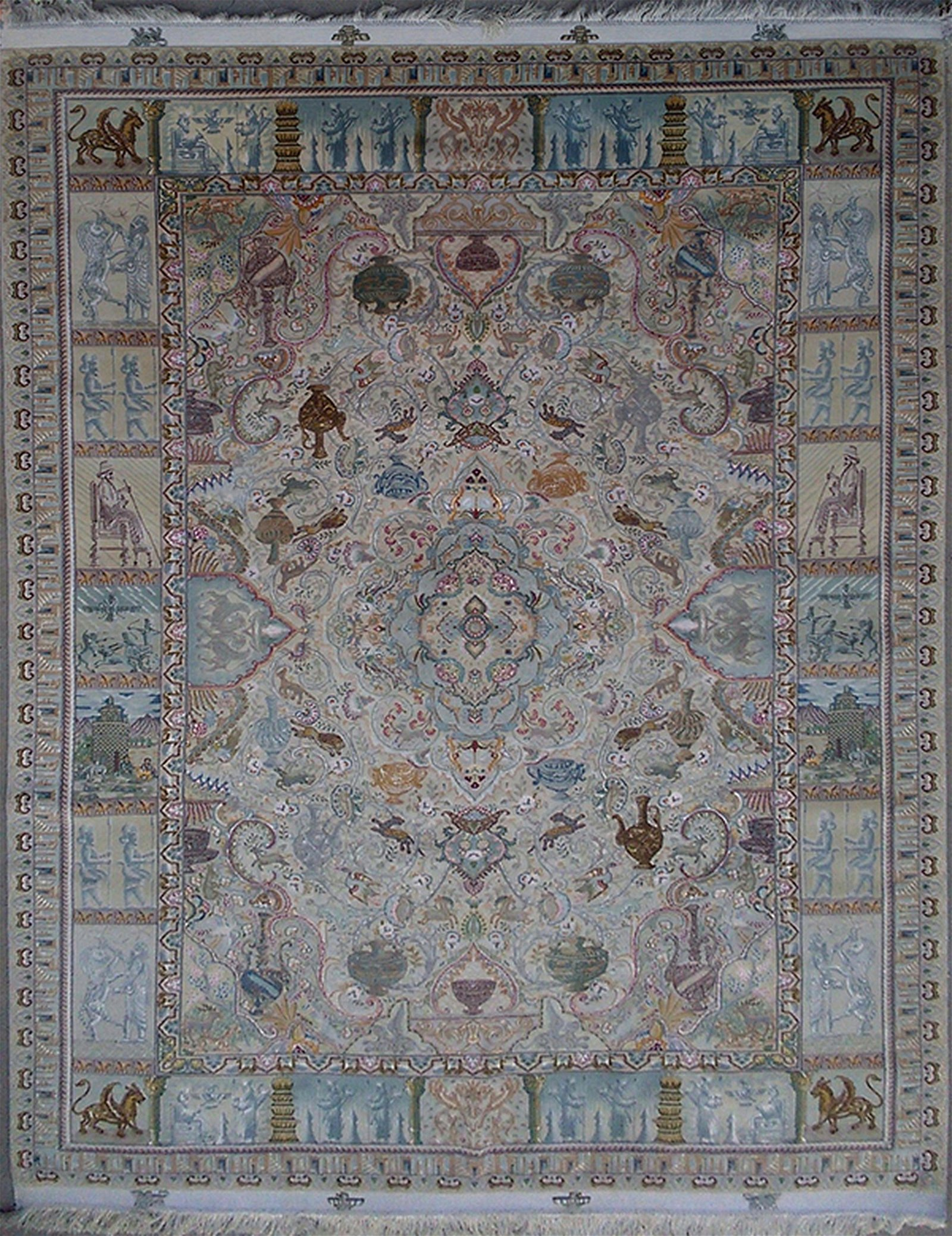 Museum Quality Tabriz Pictorial Persian Rug