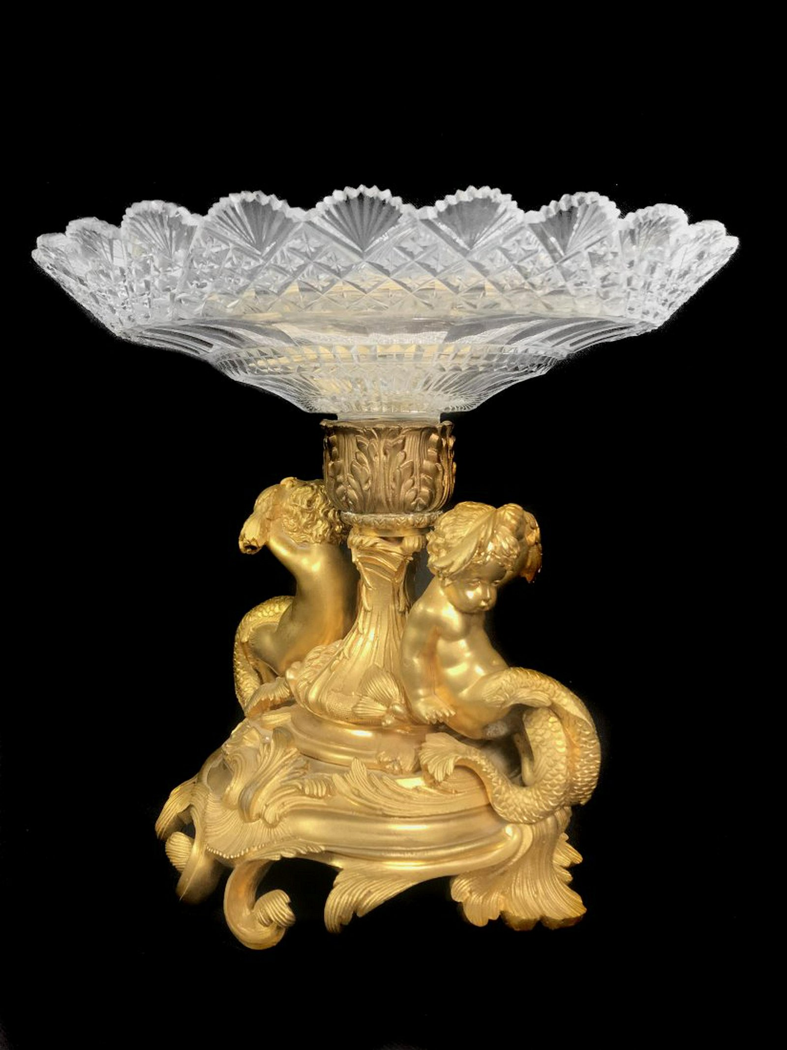A Napoleon III style gilt-bronze figural centerpiece