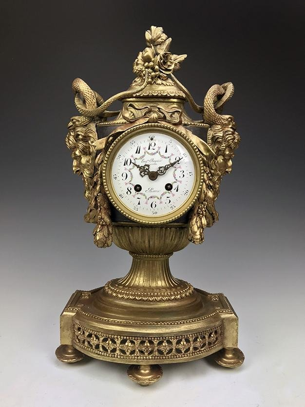 19th C. French Bronze Mythical Clock Signed!