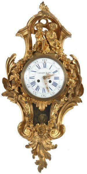 Tiffany & Co. Gilt Bronze Cartel Clock