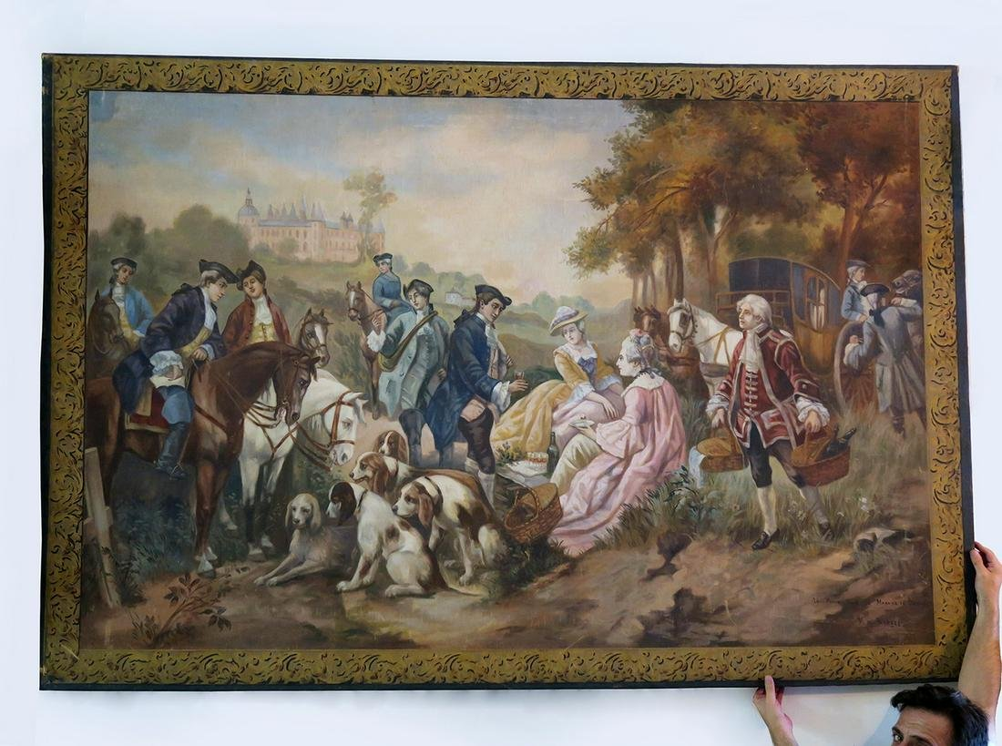 Monumental Garcia De Paredes Oil on Canvas