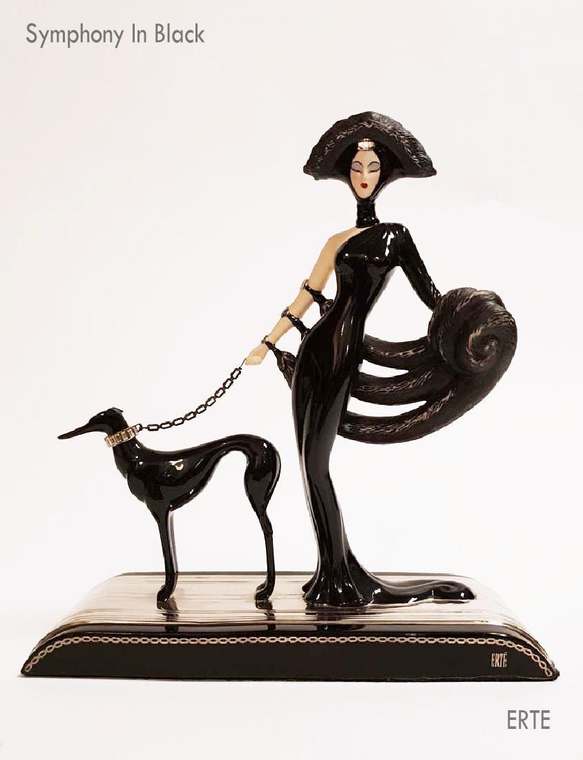 "House of Erte ""Symphony In Black"" Figurine, Ltd Edition"