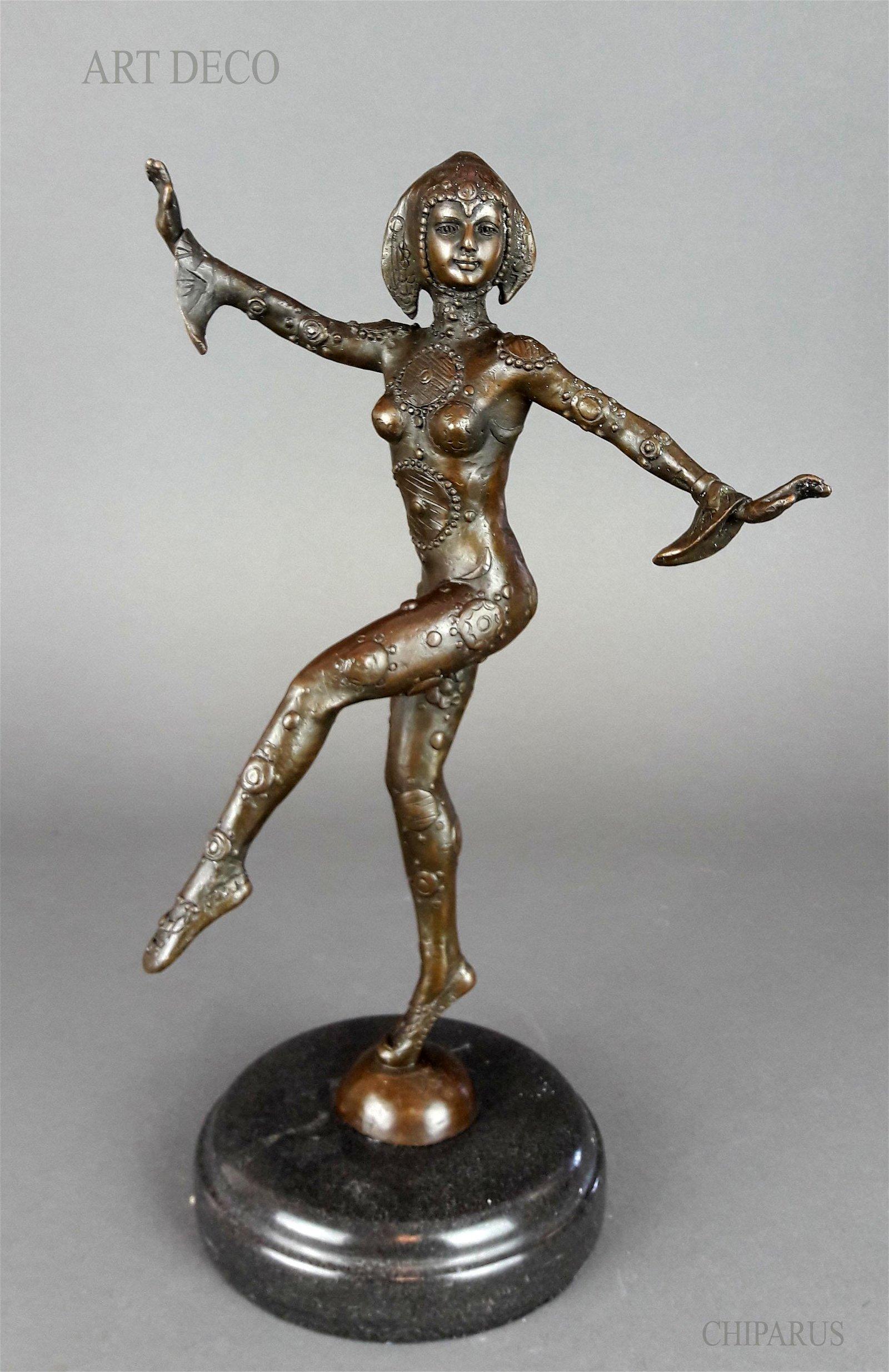 "After CHIPARUS Ballet Dancer 12\"" Bronze Statue,"