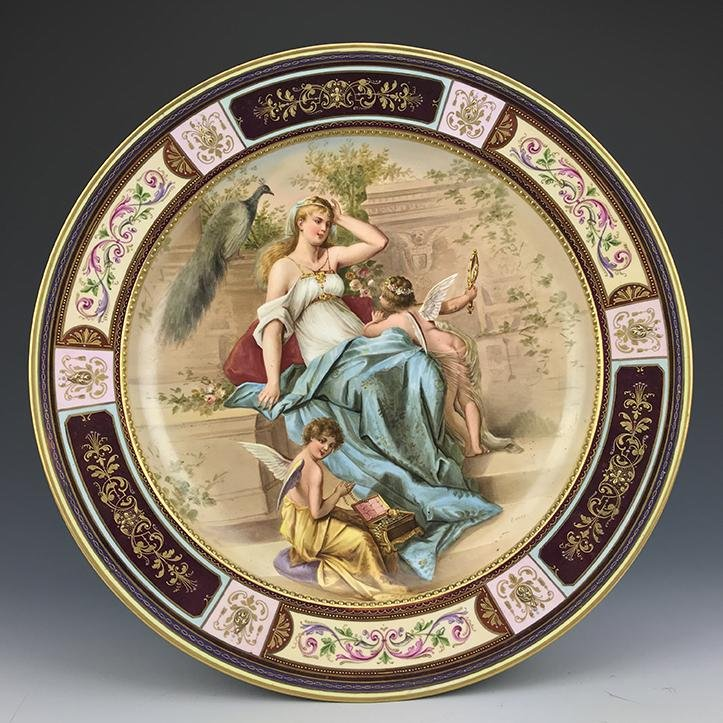19th C. Royal Vienna Hand Painted Plate