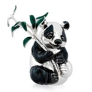 BUCCELLATI STERLING SILVER PANDA FIGURINE