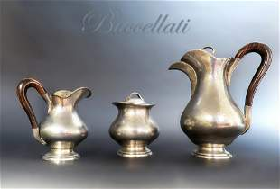 Sterling Silver Hand Hammered Buccellati Tea Set