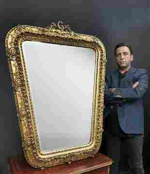 A French Large Wooden Mirror