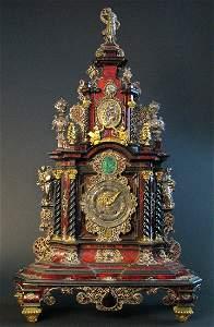 A Palatial German Case, Clock Late 17th C. 39'' tall