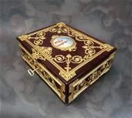 "Large Jewelry Box Signed ""Fichet"" a Paris. 19th C."