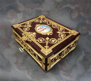 Large Jewelry Box Signed Fichet a Paris 19th C
