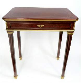 Signed Maison Krieger Kingwood Occasional Table
