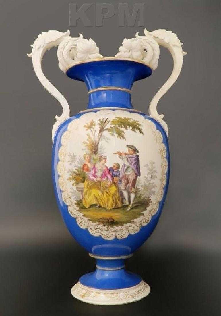 Large 19th C. Hand Painted Porcelain KPM Vase