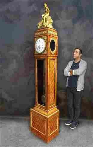 19th C Ferdinand Berthoud Gilt Bronze LongCase Clock