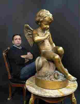 Monumental FALCONET Paris Gesso Sculpture 19th C