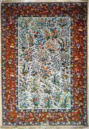 Magnificent Persian Rug from Isfahan Signed Shahabpour