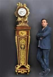 Figural Bronze & Kingwood Regulateur de Parquet