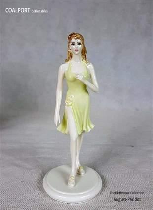 English COALPORT Collectables AugustPeridot Figurine
