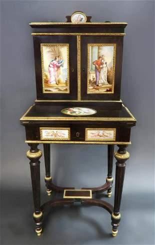 19th C Meissen Style Plaque mounted Ladies Desk