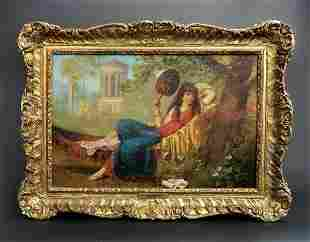 19th C French Painting Signed H Mantiny