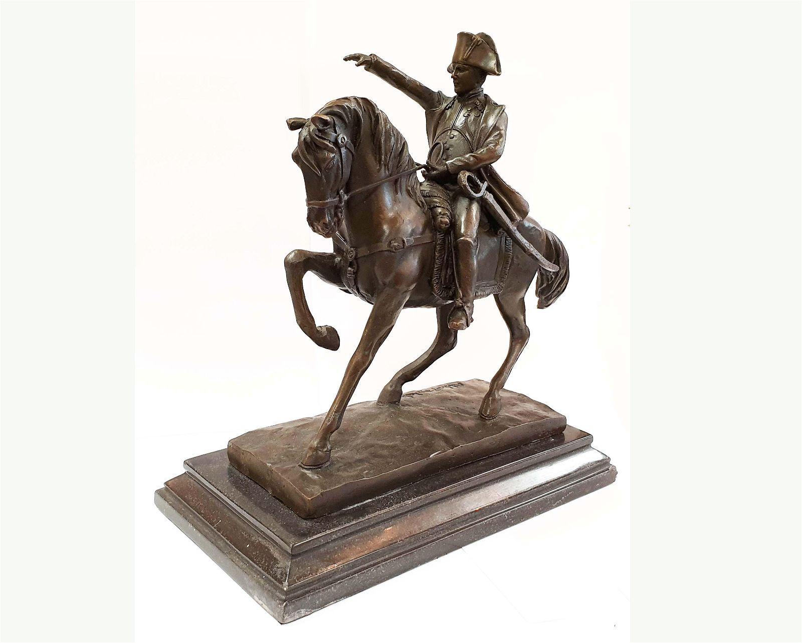 Napoleon Bonaparte Bronze Statue, Aldo Vitaleh Signed