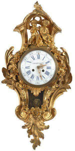 Tiffany Co Gilt Bronze Cartel Clock