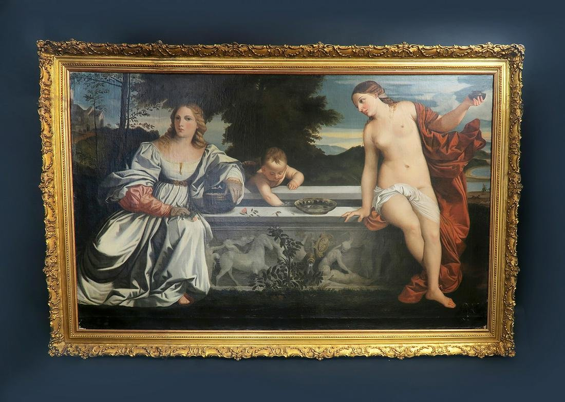 Monumental Italian O/C in the Manner of Titian