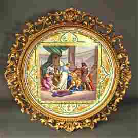 """Monumental Framed Royal Vienna Charger 19.5/8"""""""