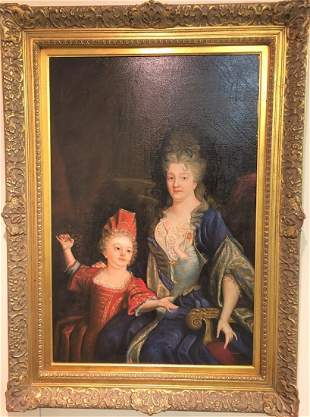 19th century Royal mother Daughter signed by artist