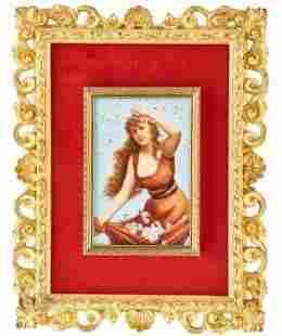 KPM style porcelain plaque 19th Century
