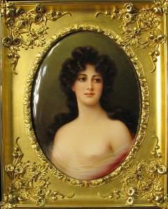 Exceptional KPM Plaque of A Young Maiden Circa 1880