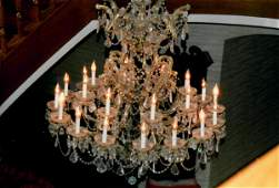 A Large Baccarat Style 24 Branch Crystal Chandelier