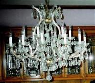 Baccarat Style 12 Branches Crystal Chandelier