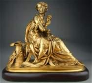 Bronze Dore Muse After Joseph C. de Blezer (French 1868