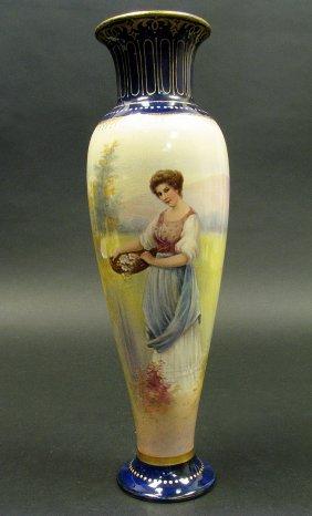 19th C. Royal Bonn Porcelain Urn
