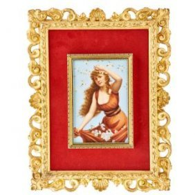 Kpm Style Porcelain Plaque 19th Century