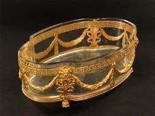 19TH C Ormolu Mounted Baccarat Crystal Bowl