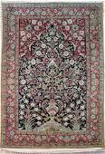 Authentic Persian handmade rug woven of pure silk