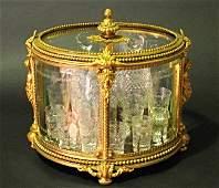 Magnificent 19th C. Baccarat Tantalus / Liquor set