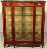 19th C. French Empire Style Bronze Mounted Vitrine