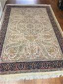 Magnificent Authentic Large Oriental Handmade Silk Rug