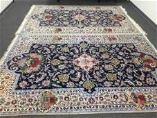 Persian Rug (Twin) from Isfahan signed