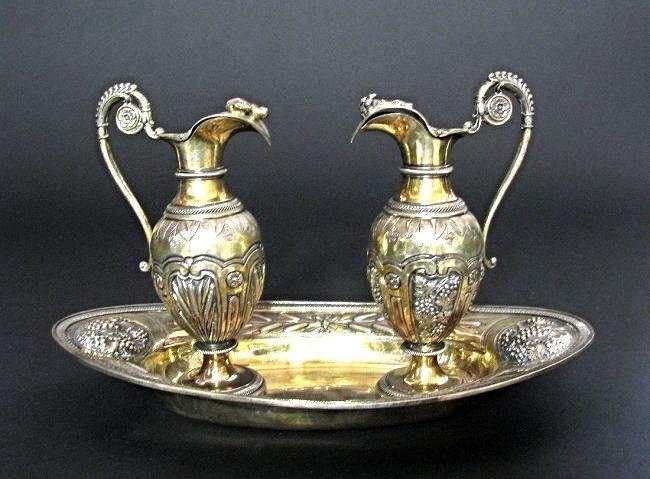French Vermeil (Silver Gilt )Cruet set circa 1830