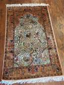 Oriental Silk Rug Persian Design