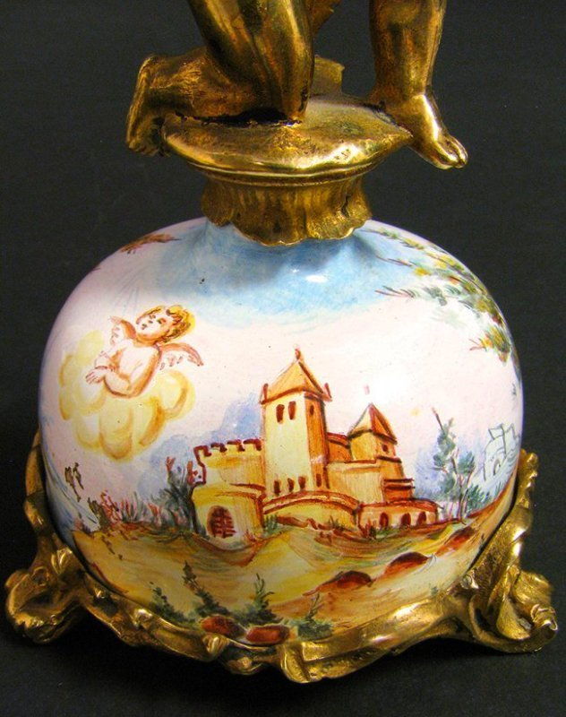 19th C. Viennese Enamel & Bronze Figural Clock - 5