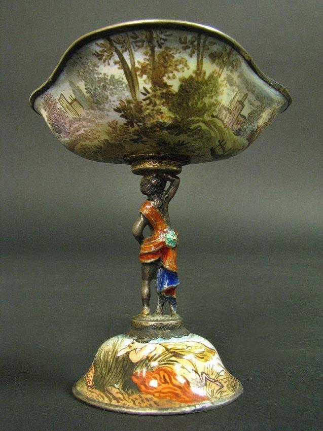 19th C. Viennese Enamel Miniature Work on Silver - 3