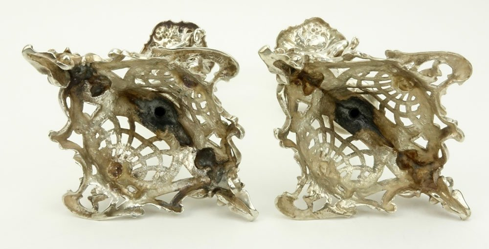 19th C. German Figural Sterling Silver Candle Sticks - 4