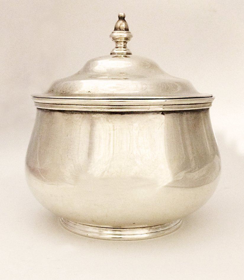 Thomas New Bond St. Heavy Sterling Silver Sugar Bowl