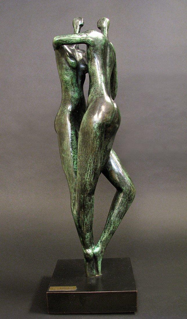 Modern Bronze Sculpture designed by Malka Rosenstein