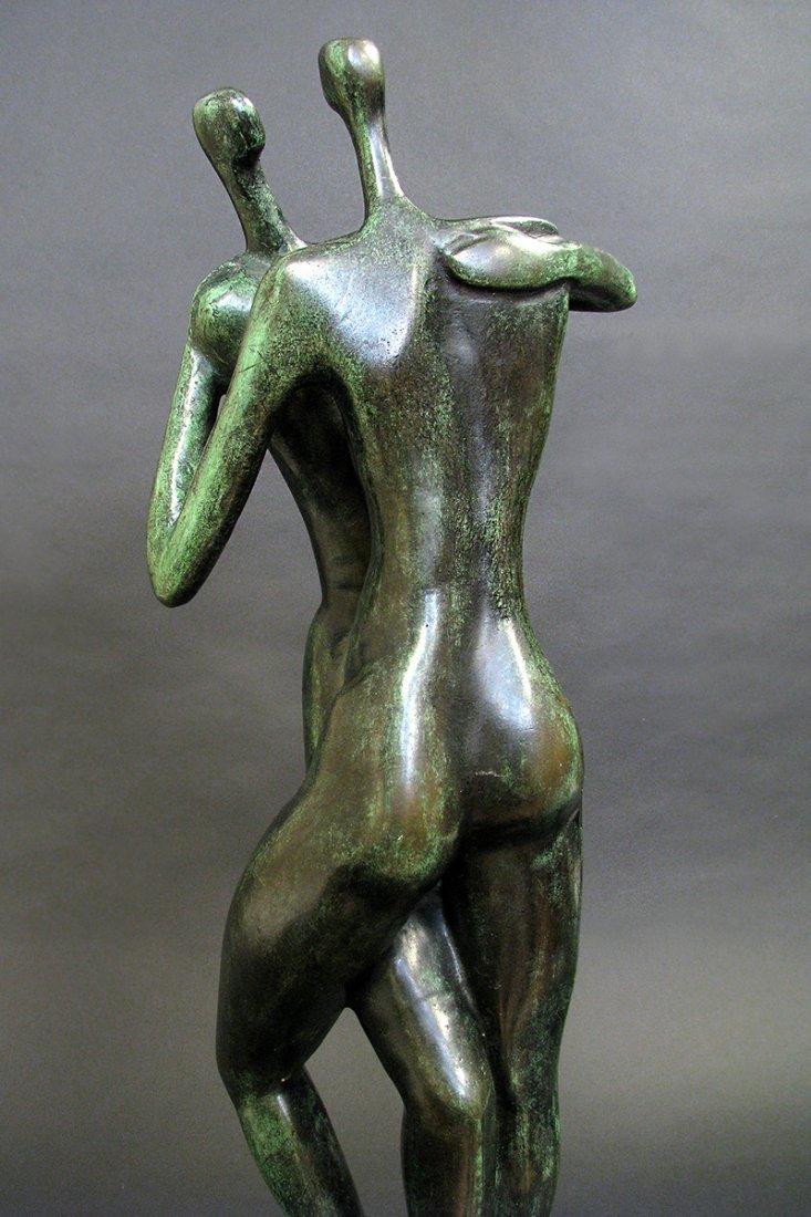 Modern Bronze Sculpture designed by Malka Rosenstein - 3